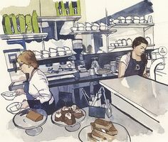 Coffee area by Wil Freeborn, via Flickr