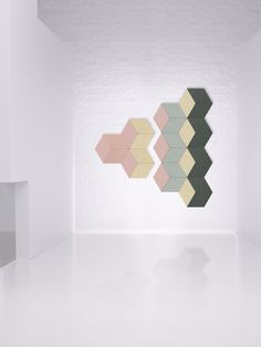 Fazett - Flexible wall sound absorbing system for Swedish brand zilenzio.se New color and shapes to be launched at the upcoming Stockholm Furniture Fair Feb. Stockholm Design, New York Office, Swedish Brands, Sound Absorbing, Scandinavian Design, Wall Tiles, Office Decor, New Homes, Shapes
