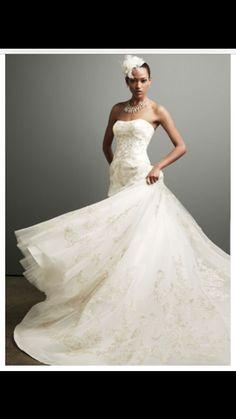 Oleg Cassini 'Strapless Tulle Ballgown' size 14 new wedding dress - Nearly Newlywed
