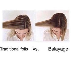 Which do you prefer? We love all the different techniques to create depth in our clients hair. Use this image @ectamez shared to show your clients the difference between traditional chunky foils and blended balayage. ✨ #cosmoprofbeauty #LicensedToCreate ✨ #hair #hairinspo #tutorial #highlights #balayage