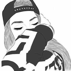 Black and white outline pictures gallery images) Tumblr Girl Drawing, Tumblr Sketches, Girl Drawing Sketches, Tumblr Drawings, Dark Art Drawings, Girly Drawings, Girl Sketch, Boy And Girl Drawing, Easy Drawings