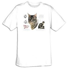 Amazon.com: Maine Coon Cat Pet Adult T-shirt Tee Shirt: Clothing
