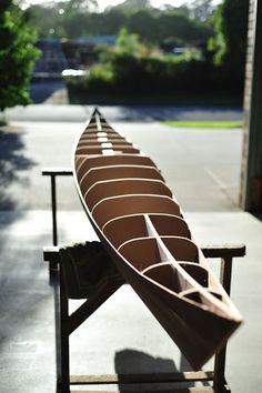 The Cabinet Maker.: 17 foot strip plank sea kayak. By Bruce Johnston.