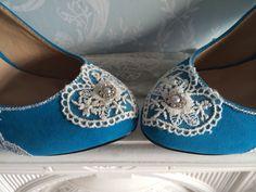 We love blue shoes!