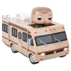 Il mitico camper di Breaking Bad in versione Funko Pop! Il veicolo è alto 14 cm circa e comprende l'action figure di Jesse Pinkman in una confezione con finestra trasparente.