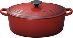 Le Creuset Enameled CastIron 8Quart Oval French Oven Cherry -- For more information, visit image link.