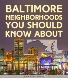 Looking for Baltimore neighborhoods with cute coffee shops and vintage clothing stores? Interested in finding a Baltimore apartment in a trending area? If you're heading to Charm City, here's a guide to Baltimore's most up-and-coming neighborhoods that you don't want to miss. [Rent.com Blog] #Baltimore #Maryland