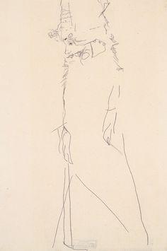 Drawing of Gerti Schiele. Egon Schiele, 1911.