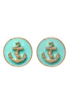 Anchor Circle Studs. Love nautical