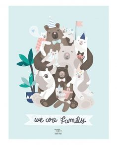 Affiche We are Family - Michelle Carlslund x émoi émoi