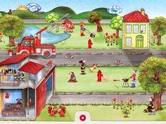 Wunderwimmelbuch App Tatütata - Feuerwehr   iPad iPhone Kinder Apps