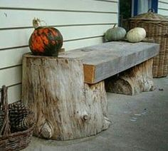 Rustic Log Furniture: The Magic of Wood Log Furniture, Garden Furniture, Outdoor Furniture, Outdoor Decor, Furniture Ideas, Tree Stump Furniture, Western Furniture, Repurposed Furniture, Furniture Design