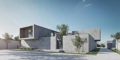 One of the most important achievements of Iranian architecture is creating a pleasant environment according to the climate, history, and culture Award Poster, Different Points Of View, Two Trees, New View, Site Design, Design Process, Modern Architecture, Environment, Villa