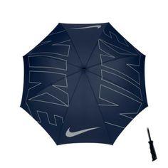 "Nike 62"" Windproof Single Canopy Graphic Golf Umbrella - Midnight Navy/Silver"