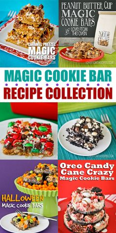 Magic Cookie Bar Recipe Collection via Love from the Oven Cake Bars, Dessert Bars, Just Desserts, Delicious Desserts, Layered Desserts, Yummy Food, Sweet Recipes, My Recipes, Magic Cookie Bars