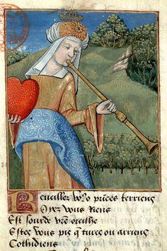 """""""Carità"""", miniatura tratta da 'Les Trois bussines' (fine XV secolo), Bibliothèque Mazarine, Parigi."""