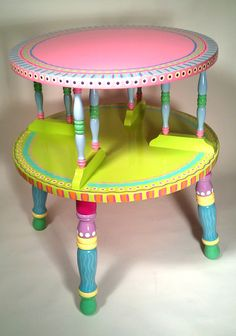 Side+Table+Hand+Painted+Furniture+Made+to+Order+by+LisaFrick,+$150.00