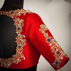 Pure raw silk blouse with fantastic all over zardosi embroidery. Custom fitted. -Measurements sheet will be sent to you once you order( Standard sizing also available) -Custom colors available -Work on front, back and sleeves. Please convo me if youre have any specific