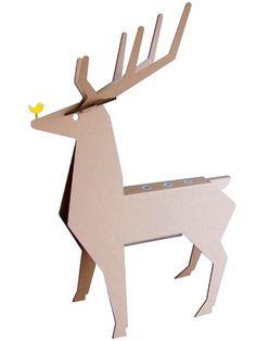 強化ダンボール製ダンボールアニマル「マイ鹿(マイ・トナカイ)」                                                                                                                                                                                 もっと見る Cardboard Animals, Cardboard Furniture, Cardboard Crafts, Diy Paper, Paper Art, Paper Crafts, Diy Crafts, Origami, Cardboard Design