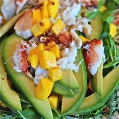 Crab Salad with Mango and Avocado dressed with Lime-Ginger Vinaigrette