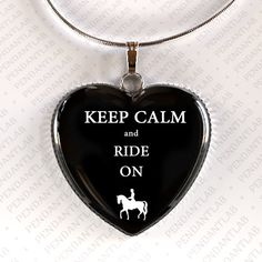 Keep Calm and Ride On Pendant Horse Jewelry Horse by PendantLab, $14.95