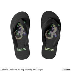 Shop for your next pair of Gecko shoes on Zazzle. Order some of our sneakers, or slip your feet into a pair of our flip flops. Flip Flop Art, Kids Flip Flops, Beachwear, Swimsuits, Pairs, Colorful, Sunglasses, Sandals, Sneakers
