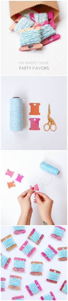 DIY 10-Minute Baker's Twine Party Favors