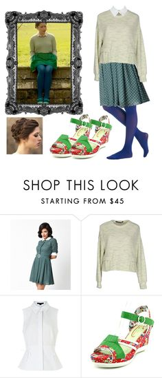 """""""Me Before You ~ Louisa Clark"""" by kellsbo18 ❤ liked on Polyvore featuring Collectif, Maurizio Pecoraro, Alexander Wang and Poetic Licence"""