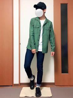 いつも見ていただきありがとうございます(^^) UNIQLOのワークシャツを使ったコーデです! Rain Jacket, Bomber Jacket, Windbreaker, How To Wear, Jackets, Fashion, Down Jackets, Moda, Fashion Styles