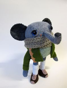 Elephant by Cat Rabbit via flickr. ** are you serious. This is the cutest thing. **