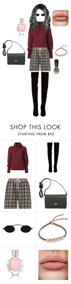 """""""Casual Tartan Chic // Contest entry"""" by dearflynn ❤ liked on Polyvore featuring BY. Bonnie Young, Christian Louboutin, Rick Owens, Kate Spade, Monica Vinader, Oscar de la Renta and Oribe"""