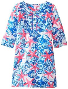Lilly Pulitzer Girls 7-16 Atlee Dress, Resort White She She Shells, X-Large  - Click image twice for more info - See a larger selection of play wear dresses at http://girlsdressgallery.com/product-category/play-wear-dresses/- kids, toddler, kids dresses, little girls, dress, casual dress, little girls fashion, gift ideas
