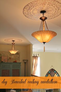 Beautiful stenciled ceiling medallion