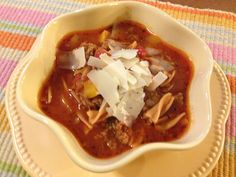 Lasagna Soup - same great taste without all of the carbs!  Ours has over 26g protein and less than 11g effective carbs - try it, you'll love it!