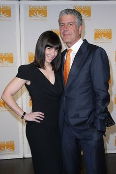 Ottavia Busia and Anthony Bourdain. Yes he has a wife, but it can still dream :) btw she is gorgeous !