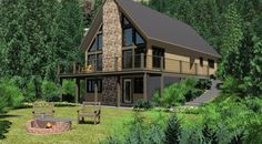 The Chinook - Prefab Cabin and Cottage Plans | Winton Homes - some good cabin plans. Peruse later.