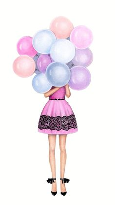 Birthday girl drawing illustrations 25 trendy ideas - New Sites Art And Illustration, Illustration Pictures, Best Friend Drawings, Girly Drawings, Birthday Card Drawing, Birthday Cards, How To Draw Balloons, Drawing Balloons, Girl Drawing Pictures