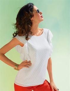 Die sommerleichte Bluse mit Flügelärmeln: eine feminine Bluse mit einer Extraportion Charme.