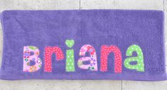 Personalized Name Back To School Nap Towel por maddiekate en Etsy