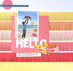 Nancy Damiano layout for Scrapbook Circle