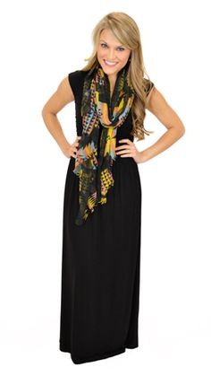 Every girl needs a basic, black maxi! $39 at shopbluedoor.com