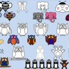 Adorable animal clip art for personal or commercial use. Commercial users will need to provide a clickable link. 32 clip art total including blac...