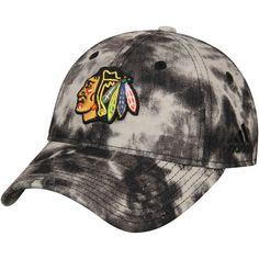 Women s Chicago Blackhawks adidas Black Distressed Slouch Adjustable Hat adf9a6fa8553