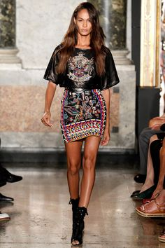Peter Dundas for Pucci SS2014 #Milan Fashion week ready to wear #sportsinfluences #rockglam