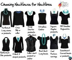 Choose Right Necklaces with your neckline-20 Lady Girl Fashion Hacks