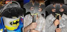 Bat masks from Parker's Batman party.
