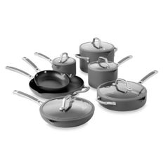 Buy Simply Calphalon® Easy System™ Nonstick 12-Piece Cookware Set from Bed Bath & Beyond...one day I'll have a set like this!!