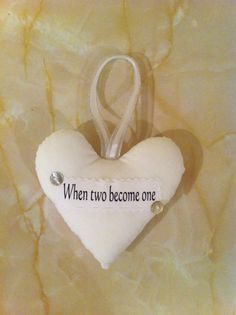 Wedding gift, wedding heart, wedding keepsake, when two become one by AndiesAccessoriesUK on Etsy