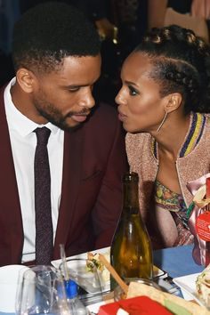 Olivia Pope's onscreen relationship with Fitz Grant on Scandal may have been . well, complicated, but Kerry Washington's relationship with her IRL husband, Kerry Washington Husband, Beasts Of No Nation, Hollywood Couples, Olivia Pope, Famous Couples, Beautiful Couple, Did You Know, Celebrities, Baddie