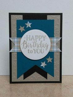 Masculine Birthday Card-Blue